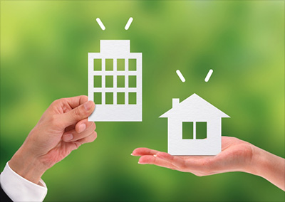 マンションと戸建て住宅イメージ